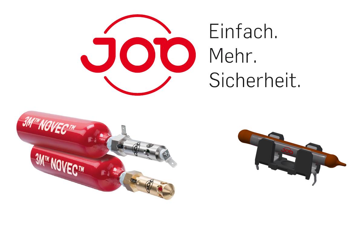 Links der AMFE Mini-Feuerlöscher, rechts die E-Bulb von JOB, die Ben Hur in Displaypanels verbaut (Foto: JOB Group/Ben Hur GmbH)