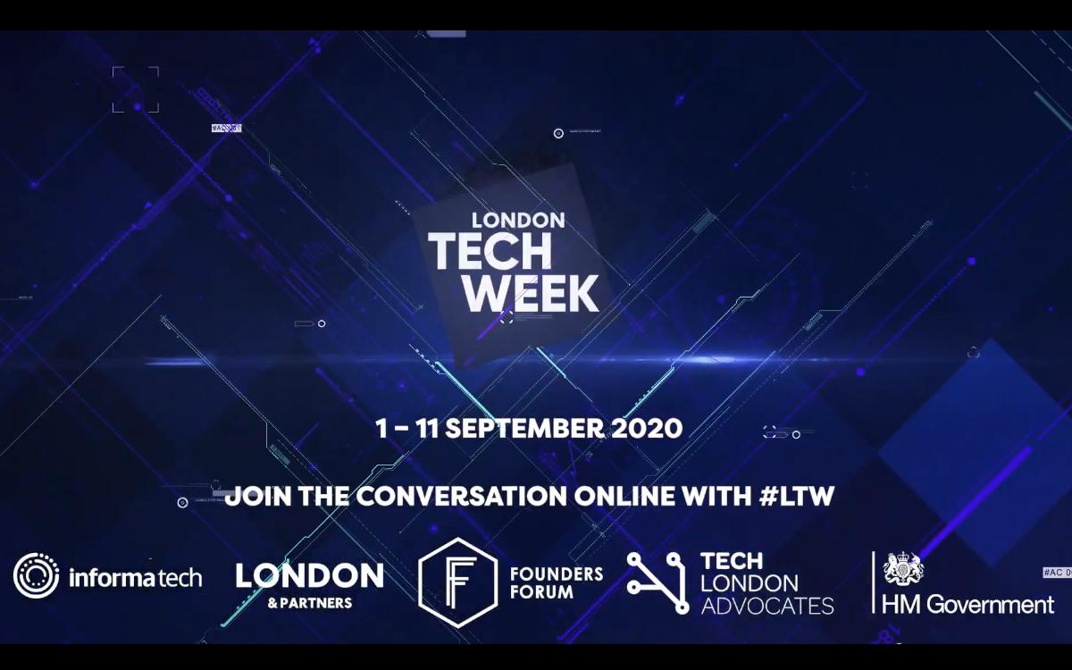 Die London Tech Week beleuchtet in diesem Jahr das wachsende Potenzial technologischer Innovation, ob im Kampf gegen Corona, für eine bessere Umwelt oder im Office von Morgen (Foto: Screenshot)