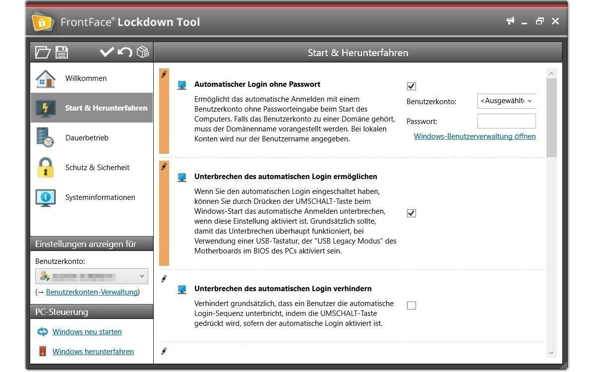 Mit dem Gratis-Tool FrontFace Lockdown lassen sich Windows-PCs einfach als Kiosk-Terminal oder Digital Signage-Player konfigurieren (Foto: mirabyte)