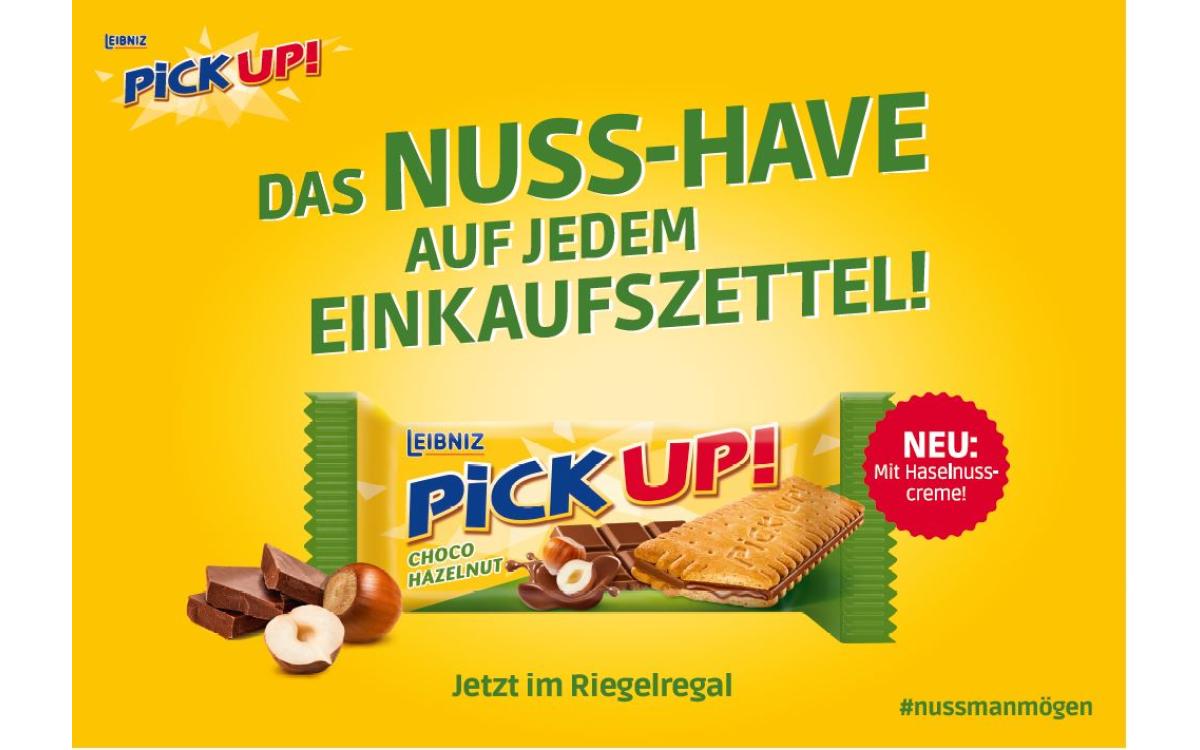 Für den neuen Riegel PiCK UP! CHOCO HAZELNUT setzt Weischer.JvB eine variantenreiche Programmatic-Kampagne um (Foto: Weischer.JvB)