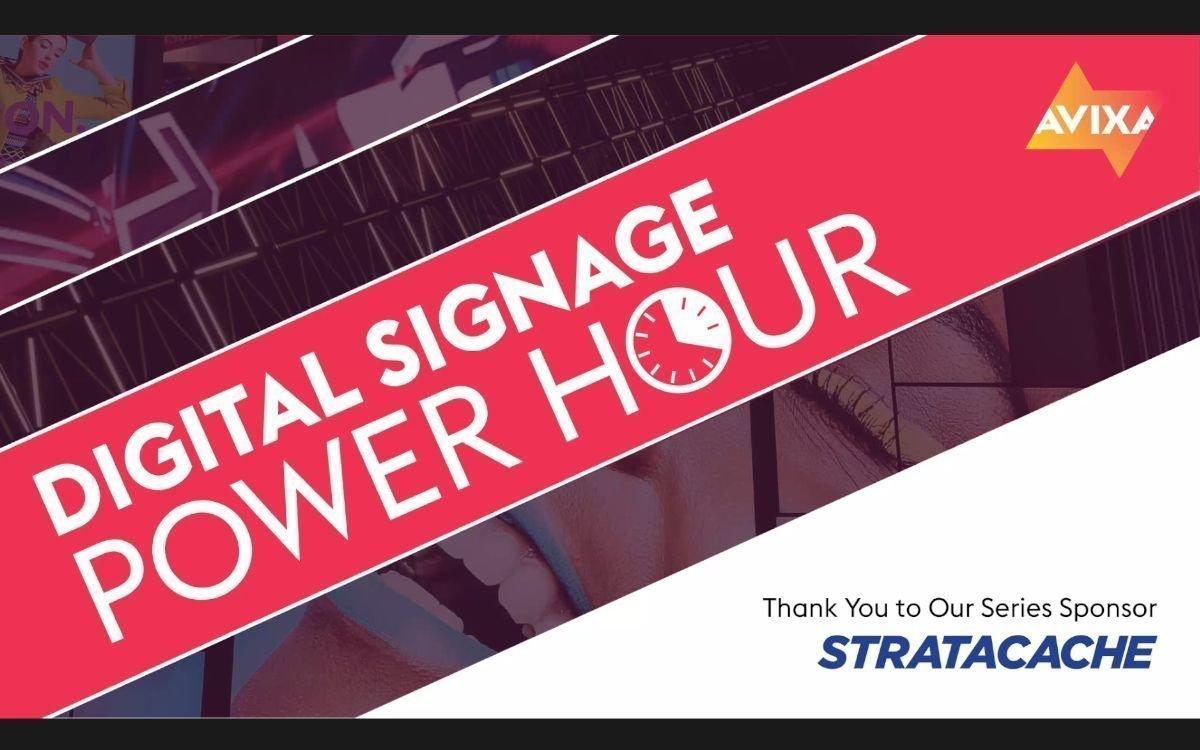 LED und MicroLED standen im Mittelpunkt der monatlich stattfindenden Digital Signage Power Hour im September (Foto: Screenshot)