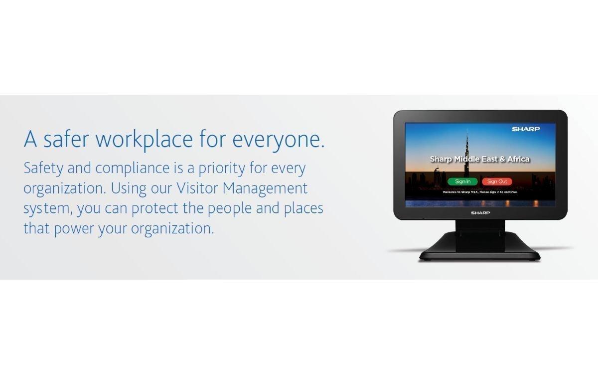 """Das neue 10"""" Visitor Management System von Sharp (Foto: Sharp)"""