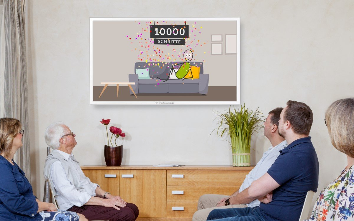 """Mit dem Film """"10.000 Schritte am Tag"""" rief TV-Wartezimmer 2020 zu mehr Bewegung im Alltag auf (Foto: TV-Wartezimmer)"""