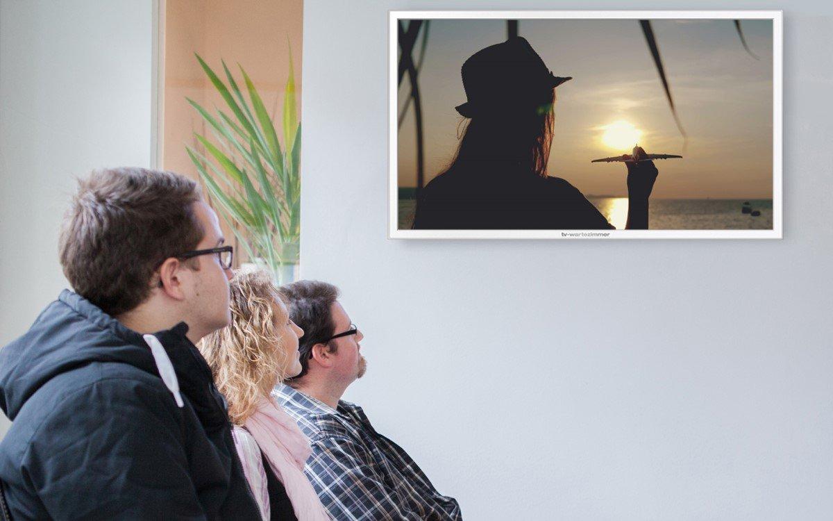"""""""60 Sekunden Urlaub"""" von TV-Wartezimmer in einer Praxis (Foto: TV-Wartezimmer)"""