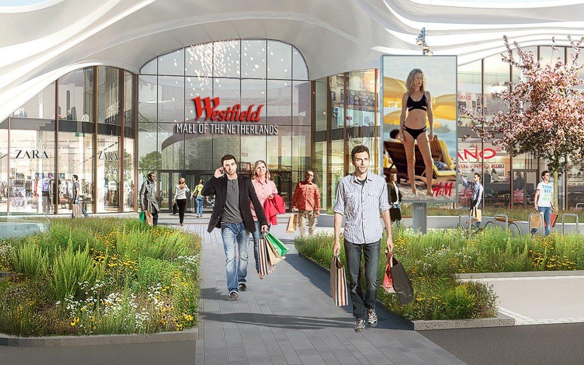 Die neue Westfield Mall Of The Netherlands soll Ende 2020 eröffnet werden (Foto: Ocean Outdoor, URW)