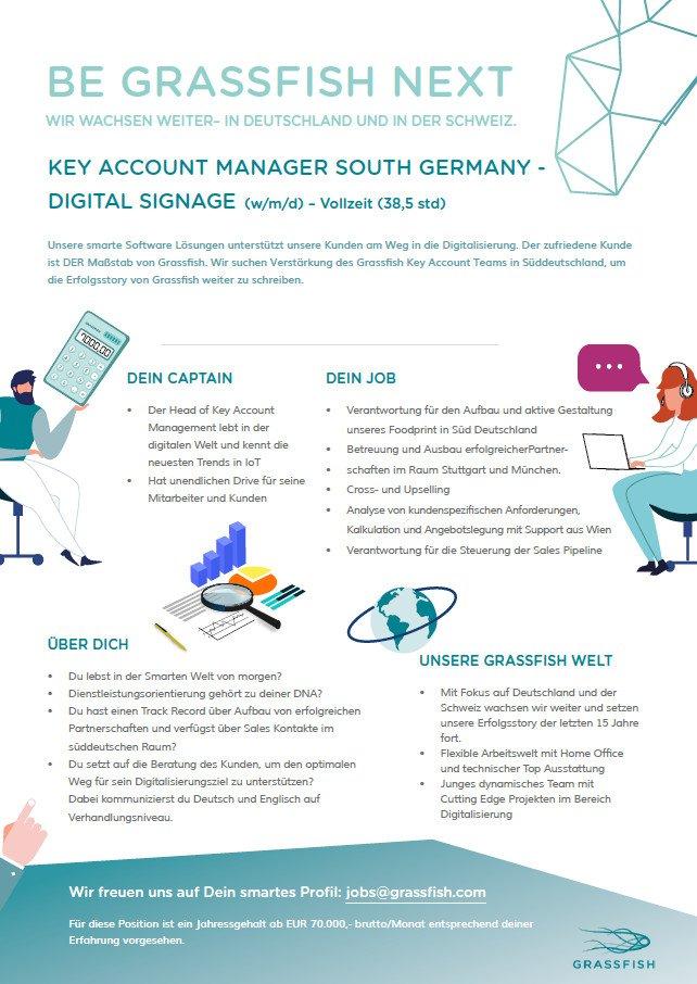 invidis Digital Signage Stellenanzeige - Grassfish Key Account Manager South Germany Digital Signage (Foto: Grassfish)