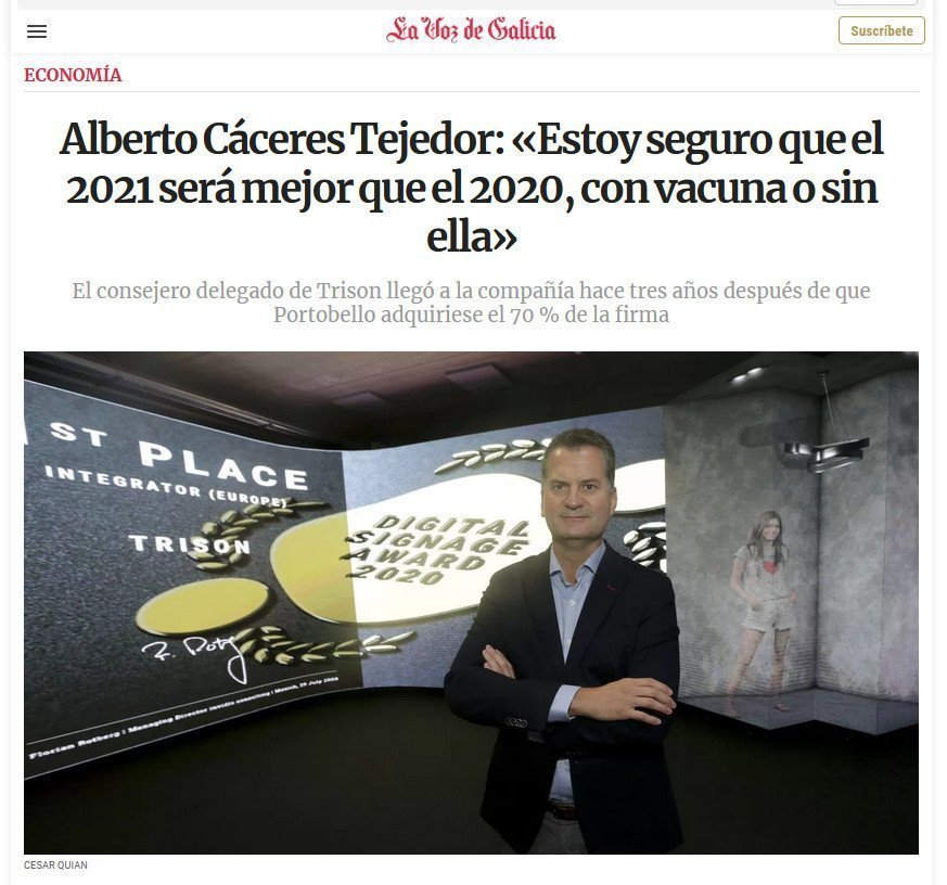 Screenshot Trison Interview La Voz de Galicia (Screenshot)
