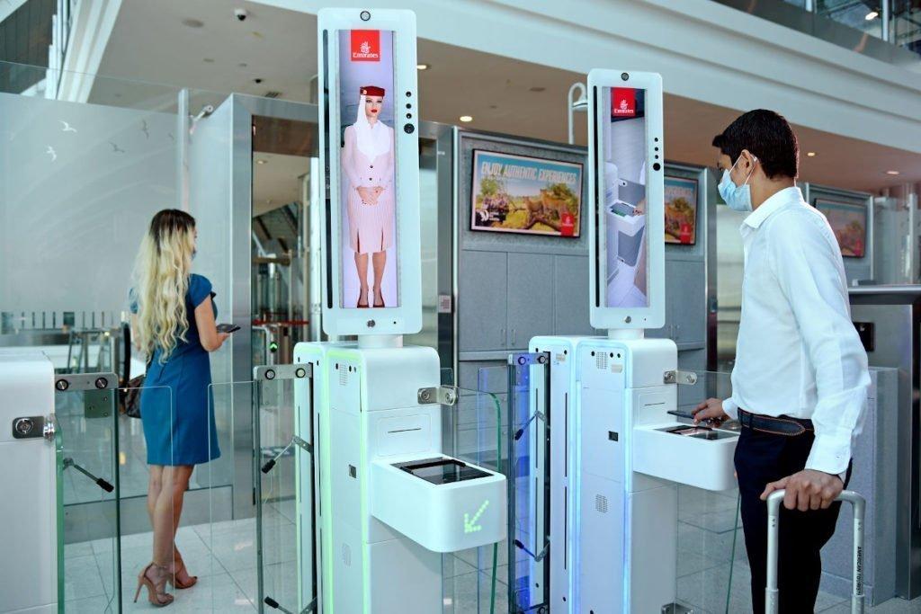 Biometrie trifft Digital Signage - Emirates in Dubai (Foto: Emirates)
