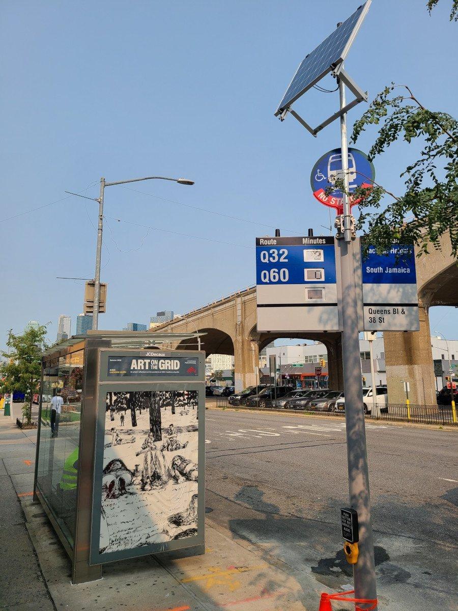 Solar Signage in New York City (Foto: Telia)