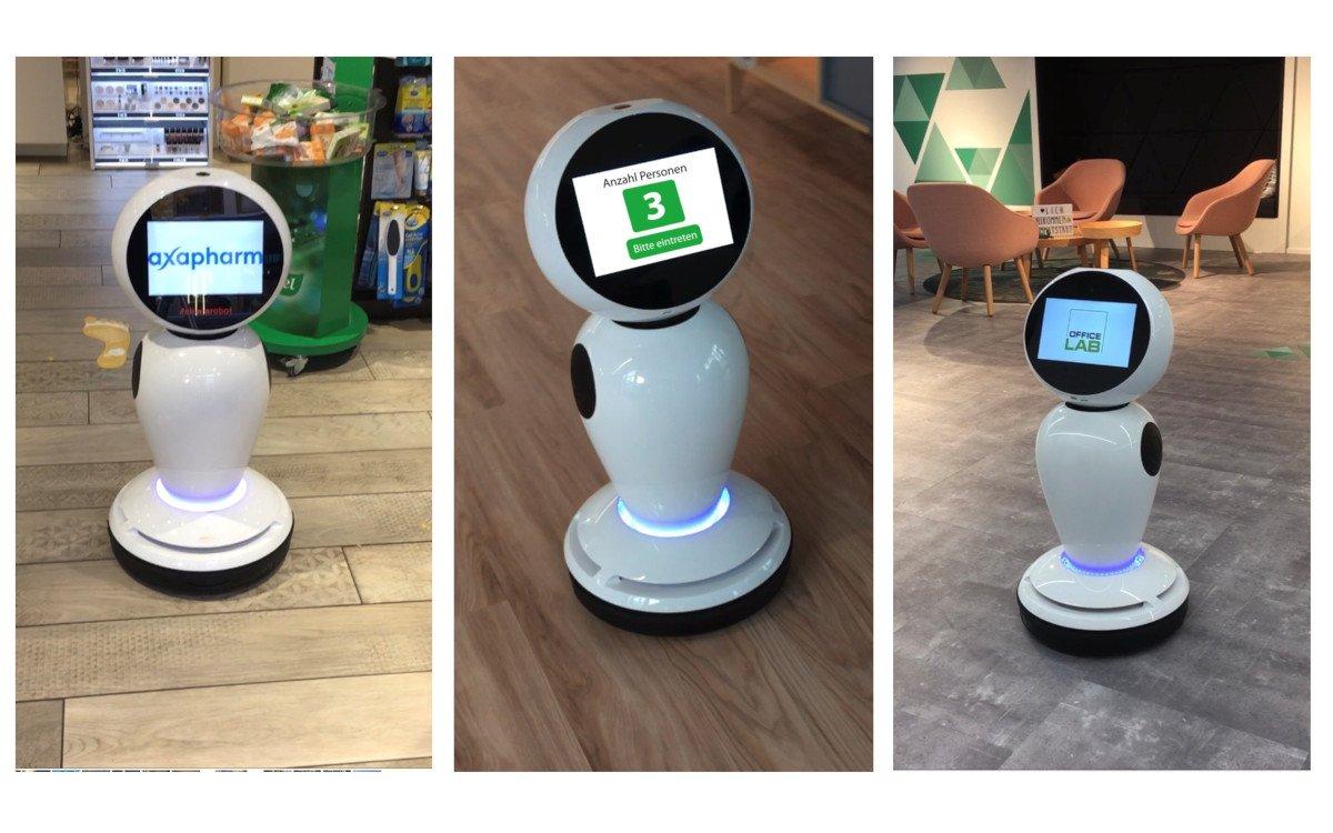 CHiara - der Signage Roboter aus der Schweiz (Foto: Wepro Digital)