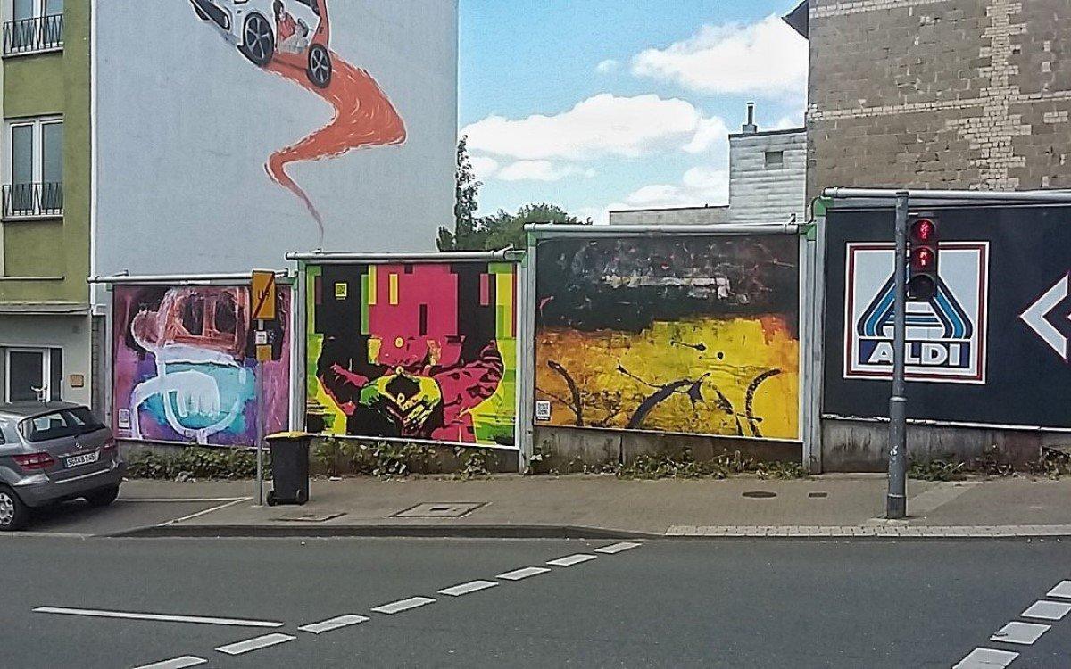 OoH-Kunst in Wuppertal auf Plakatflächen von Ströer (Foto: Stadt Wuppertal)