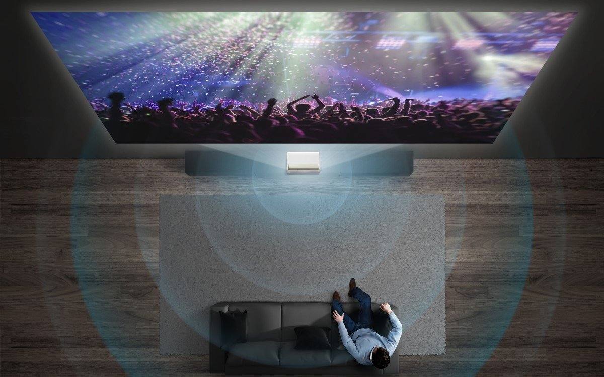 Samsungs The Premiere Ultra-Kurzdistanz-Projektor (Foto: Samsung)