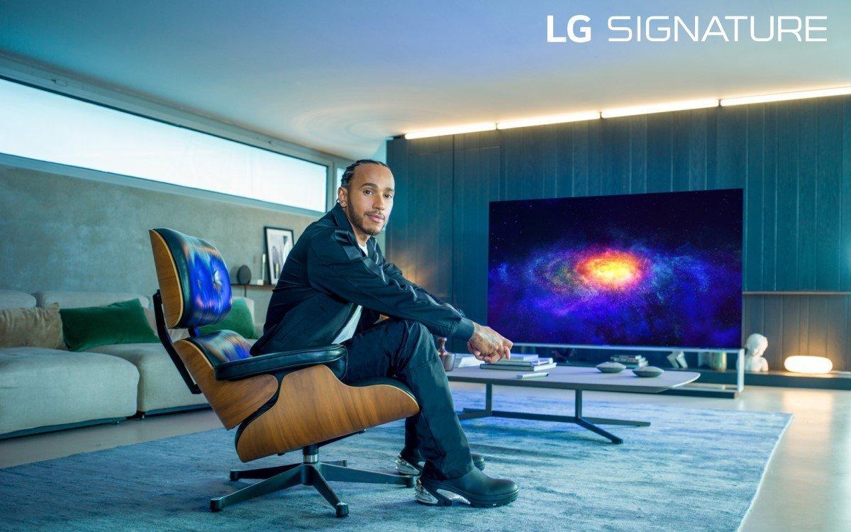 Der mehrfache F1-Weltmeister Lewis Hamilton wird neuer LG Signature Markenbotschafter für Smart Home-Lösungen (Foto: LG Electronics)