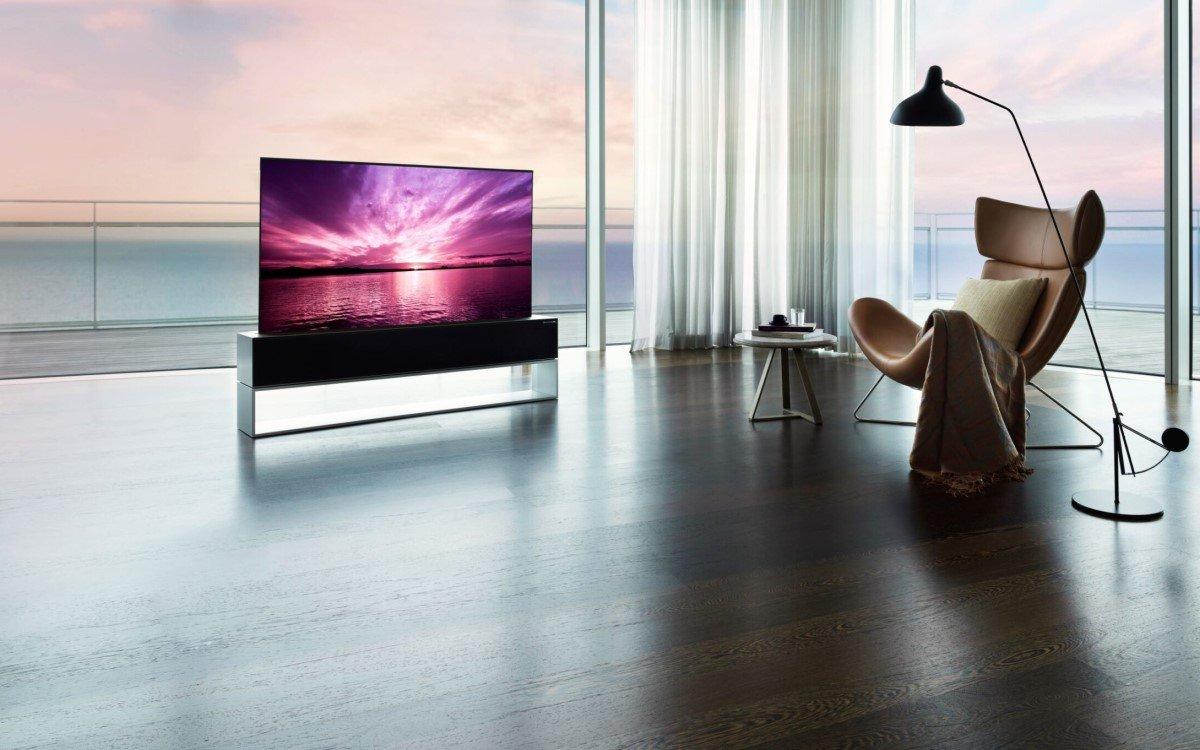 LGs aufrollbarer OLED-TV wird in Südkorea für stolze 74.000 Euro angeboten (Foto: LG Electronics)