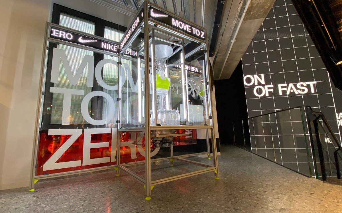 Move to Zero im Nike House of Innovation in Paris mit Tech von satis&fy (Foto: satis&fy)