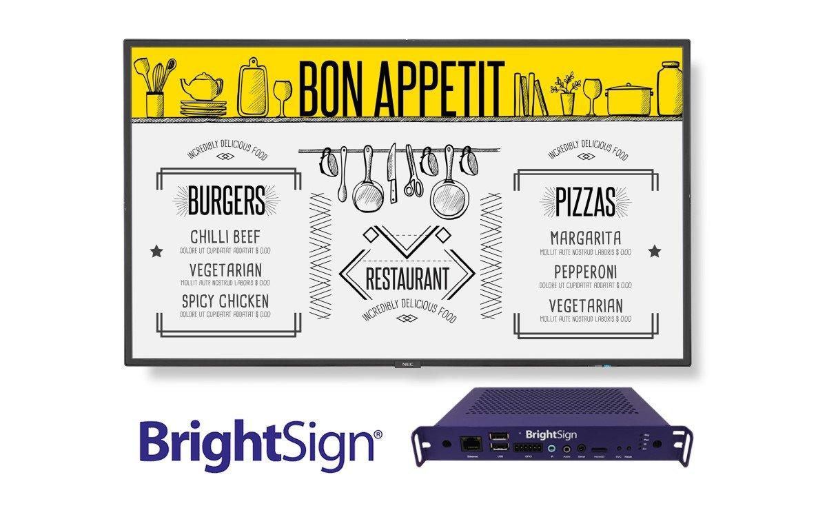 NEC Display Solutions und BrightSign bieten künftig Displays mit vorintstalliertem Digital Signage-Mediaplayer an (Foto: NEC)