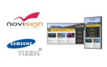 NoviSigns Cloud-basiertes Digital Signage CMS ist künftig nativ auf Samsung Tizen Displays verfügbar (Foto: Samsung/NoviSign)