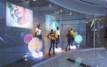 Digital Signage Projektoren von Epson im Schaufenster (Foto: Epson)