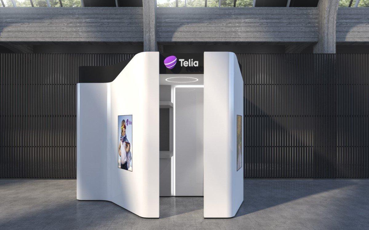 Selbstbedienungs-Pod von Cleveron und Telia, der in Estland jetzt getestet wird (Foto: Cleveron)