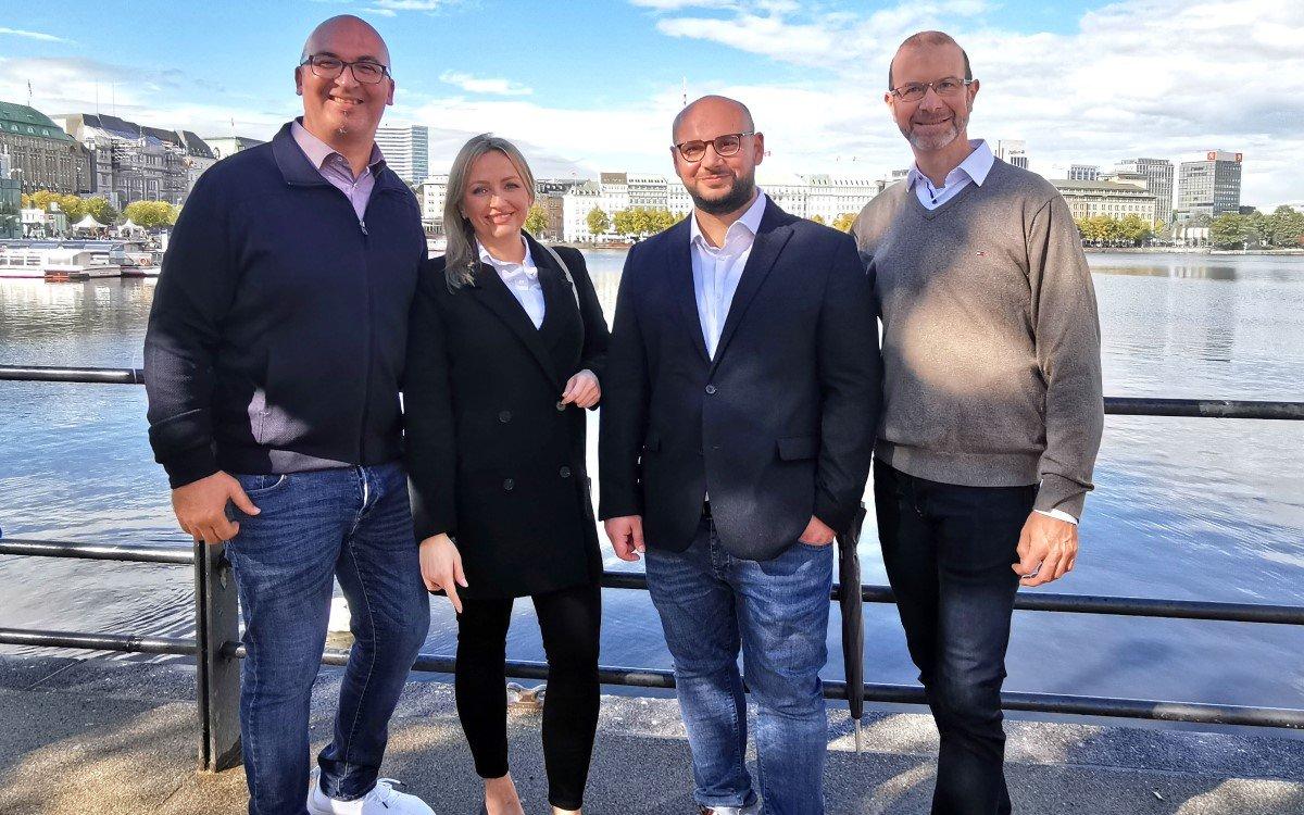Das neue S&K-Team in Hamburg (v.l.): Mohamed-Radhi Melaouah, Ewa Kaminska, Aslan Aslan und Alexander Gröger (Foto: Siewert & Kau)