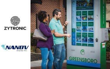 Nanov Displays und Zytronic entwickelten interaktive CityPost-Terminals für Greensboro (Foto: Nanov Displays/Zytronic)