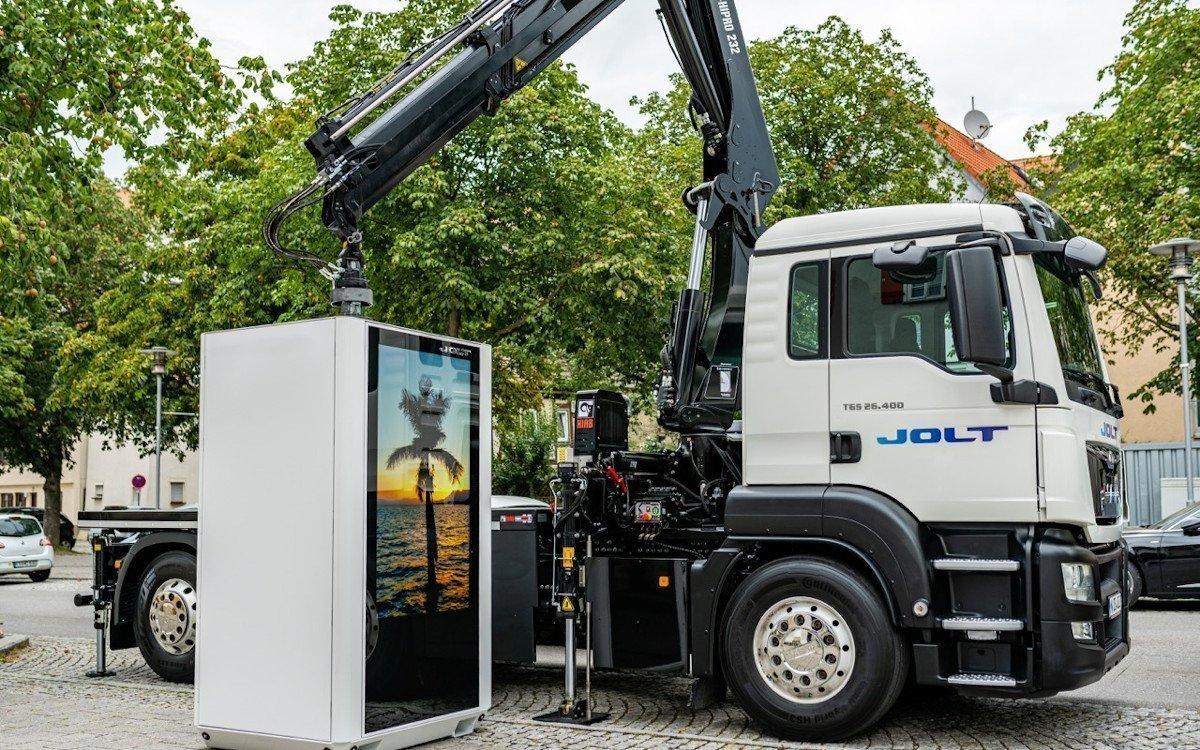 MerlinOne - Schnelllader mit Screen (Foto: Jolt Energy)