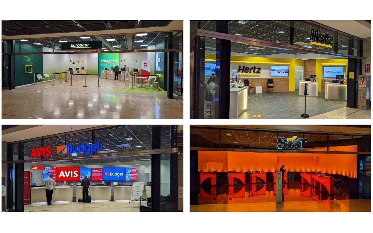 Design trifft Digital Signage - Autovermietungen am BER (Fotos: invidis)