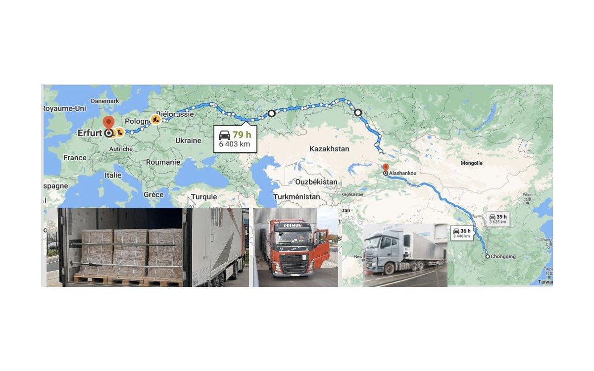 Von Chongqing nach Erfurt - Fracht auf neuen Wegen (Foto: SES Imagotag)