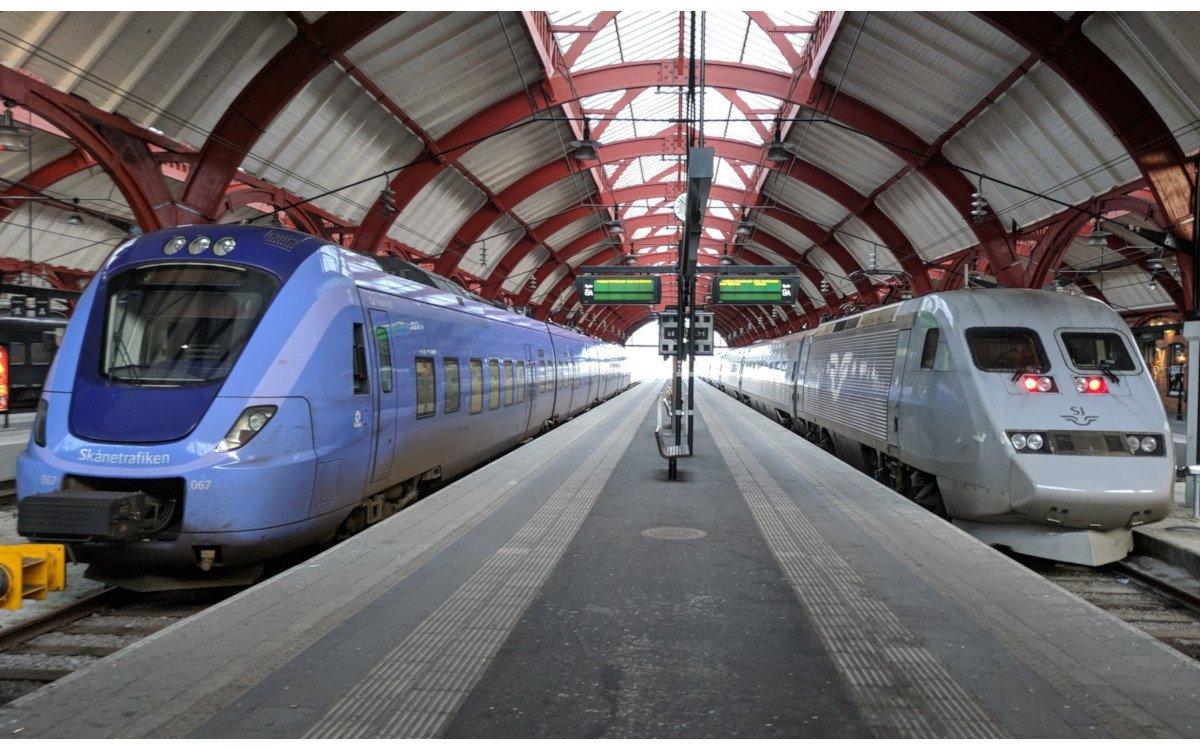 Züge der Sshwedischen Bahn (SJ) in Malmö (Foto: invidis)