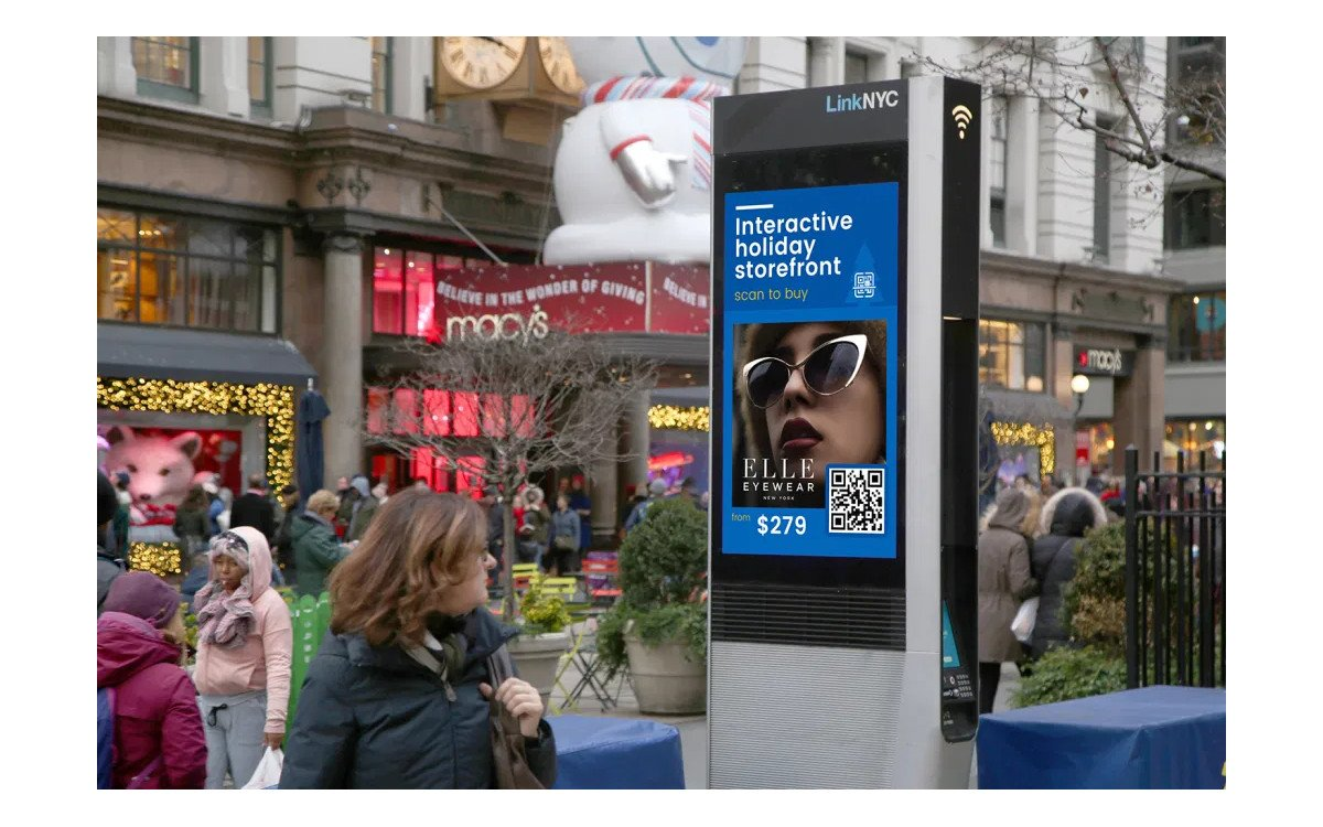 QR-Code Kampagne auf Link NYC in New York City (Foto: Intersection)