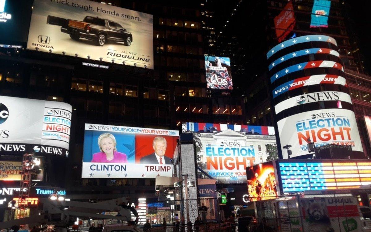US-Wahlabend 2016 am Times Square (Foto: invidis)
