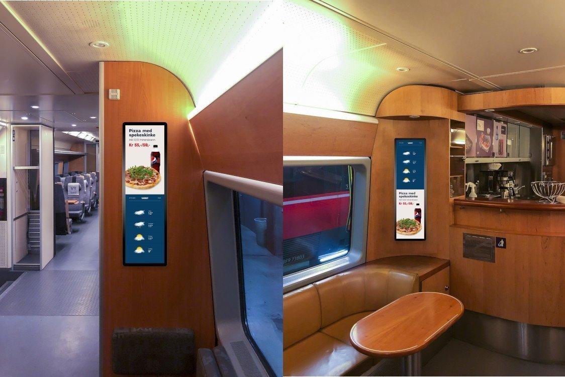 ZetaDisplay bringt Digital Signage in norwegische Züge (Foto: ZetaDisplay)