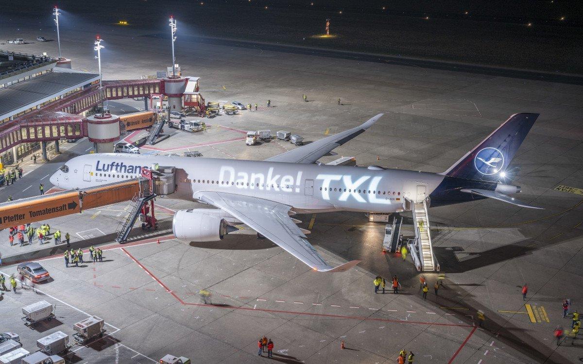 Letzter Lufthansa Flug von Berlin Tegel (Foto: Günter Wicker/ BER)