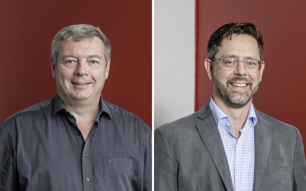 Klaus Schöpper (l.) und Achim Scherner verstärken das Verkaufsteam für AV-Lösungen bei Amptown (Foto: ASC)