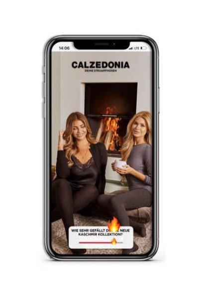 Interaktive Add von Calzedonia, die Interesse an der neuen Kollektion misst (Foto: SOD)