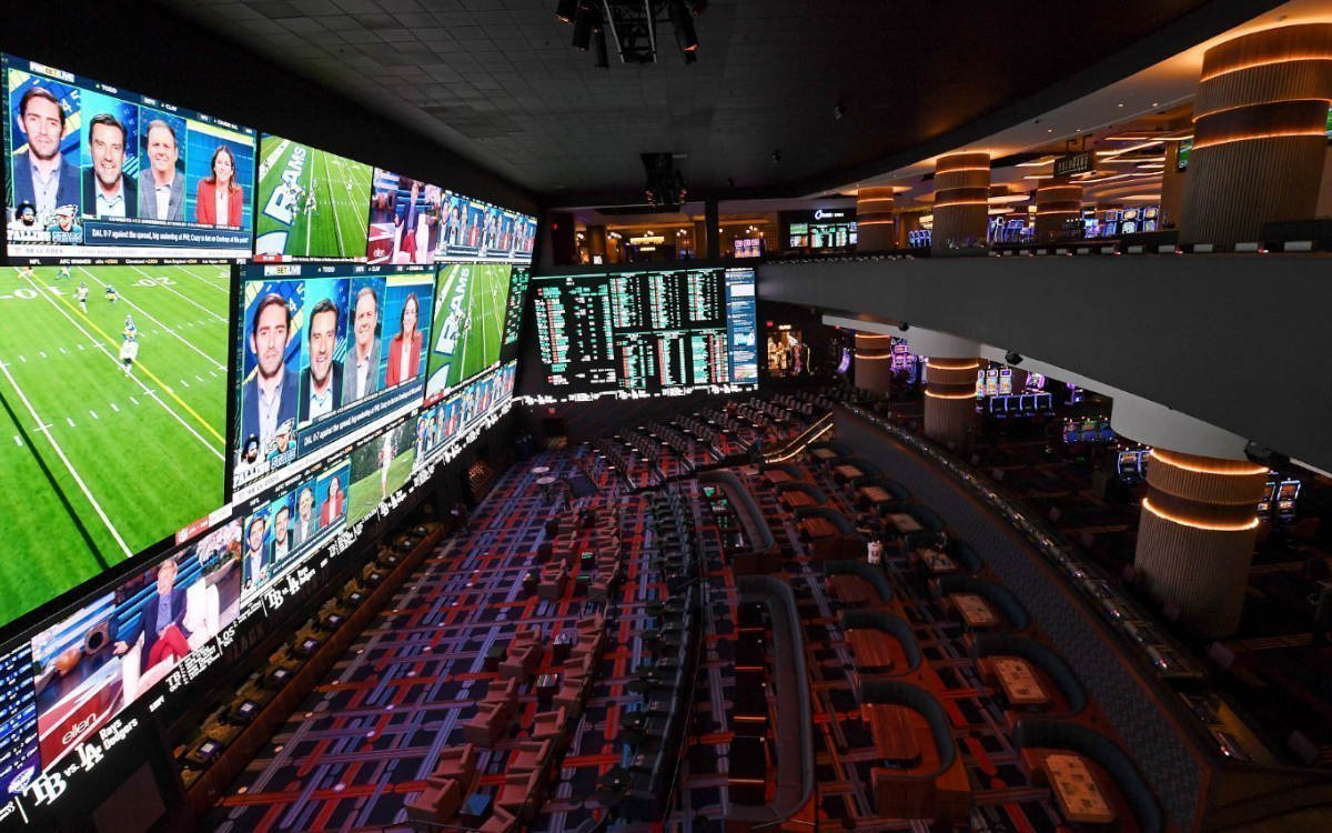 Die Sportsbook Experience im Circa Resort & Casino (Foto: Daktronics)