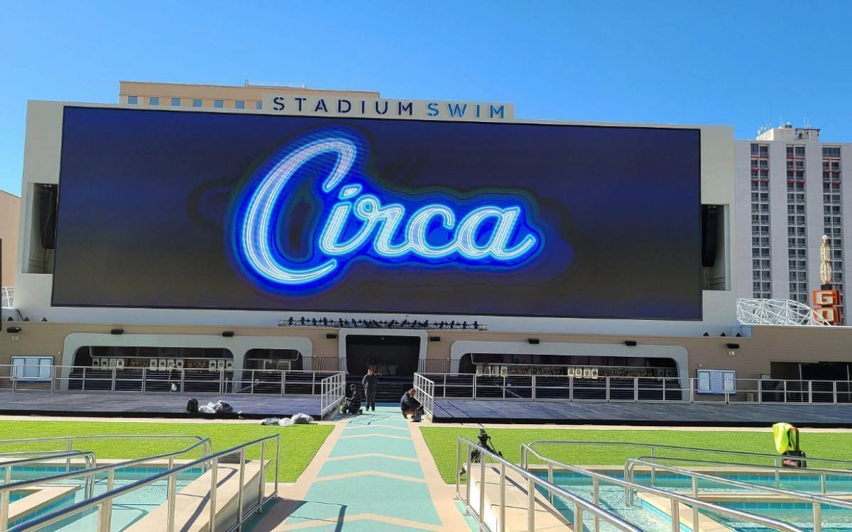 Das Display im 'Stadium Swim' des Circa kommt auf 513qm (Foto: Daktronics)