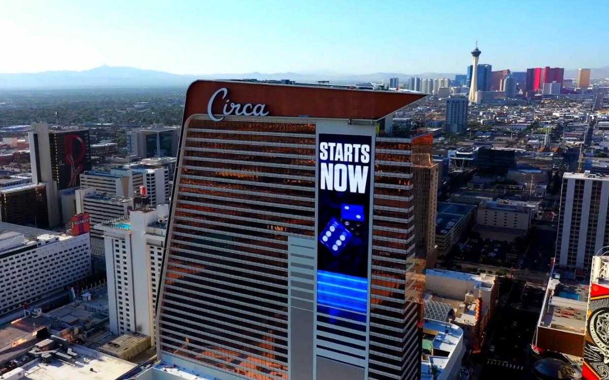 1.100qm Mega-LED-Display an der Außenfassade des Circa Resort & Casino in Las Vegas (Foto: Daktronics)