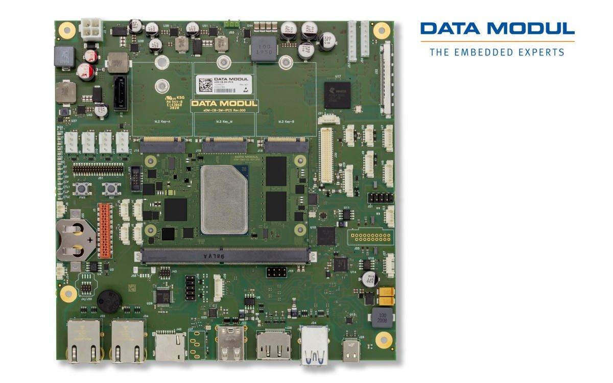 Data Modul erweitert sein Embedded-Portfolio um das neue eDM-CB-SM-IPCS mit SMARC 2.1 (Foto: Data Modul)