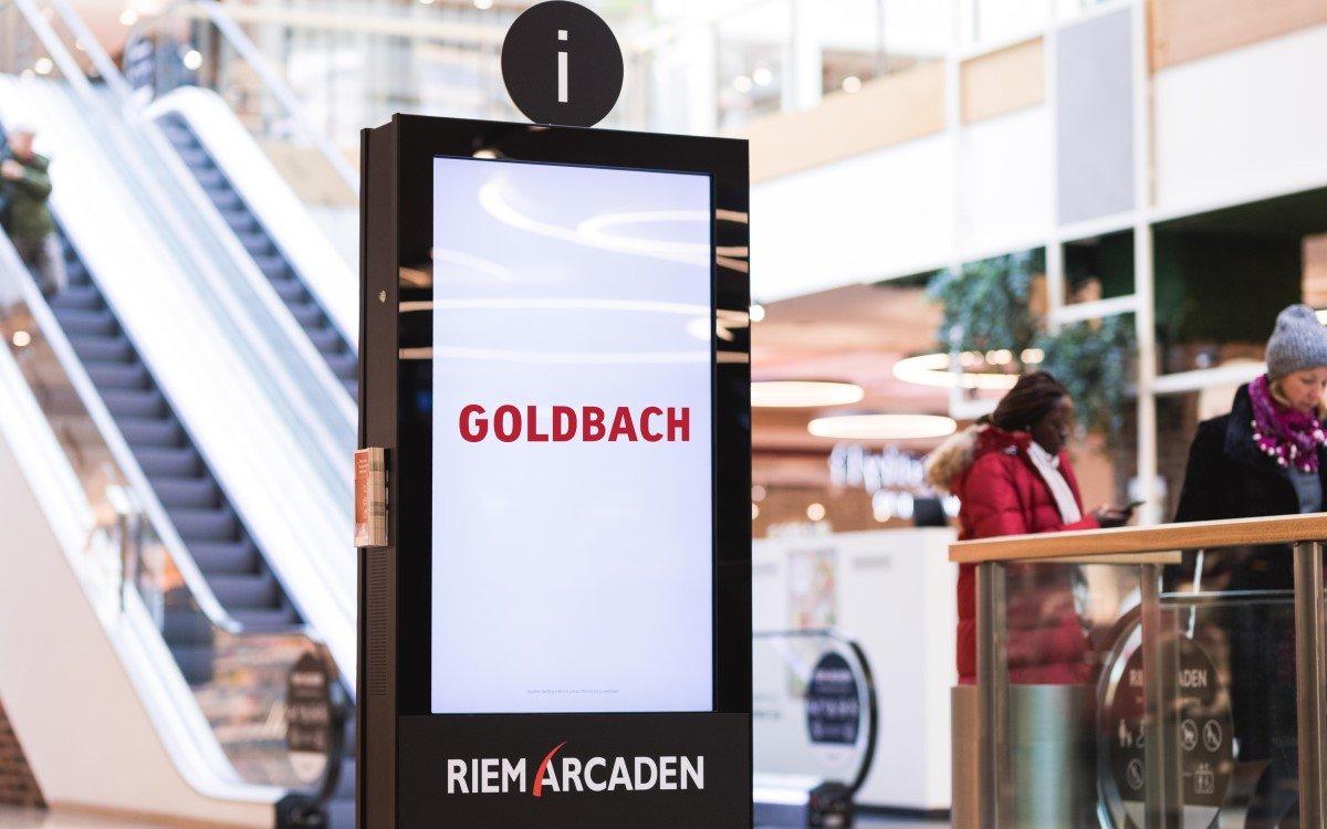 DooH von Goldbach in den Riem Arcaden in München (Foto: Goldbach)