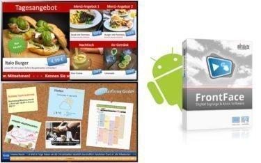 Mit FrontFace 4.4 lassen sich jetzt auch Android-Geräte in professionelle Digital Signage-Displays verwandeln (Foto: mirabyte)