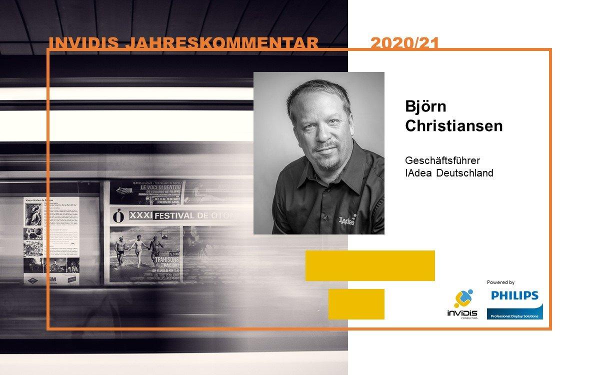 Björn Christiansen, geschäftsführender Gesellschafter IAdea Deutschland, im invidis Jahreskommentar 2020 2021 (Foto: IAdea)