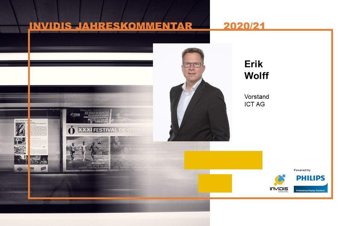 Erik Wolff, Vorstand der ICT AG, im invidis Jahreskommentar 2020|2021 (Foto: ICT AG)