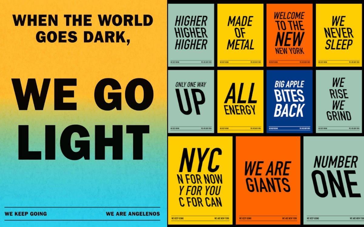"Motive der JCDecaux Kampagne ""We keep going"" (Foto: www.wekeepgoing.us)"