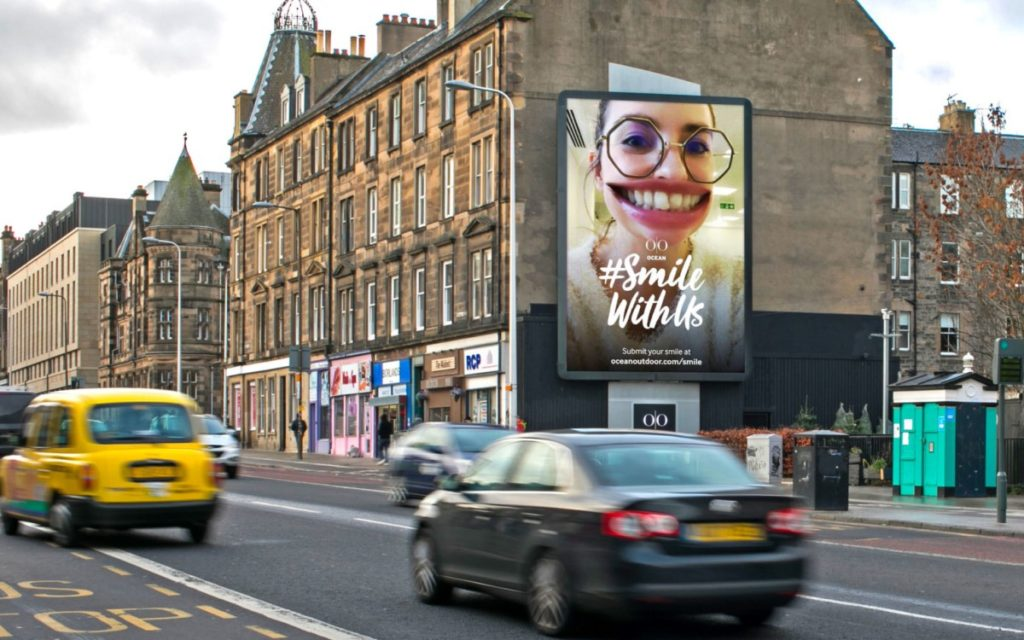 """Smile with us""-Kampagne von Ocean Outdoor in UK (Foto: Ocean)"
