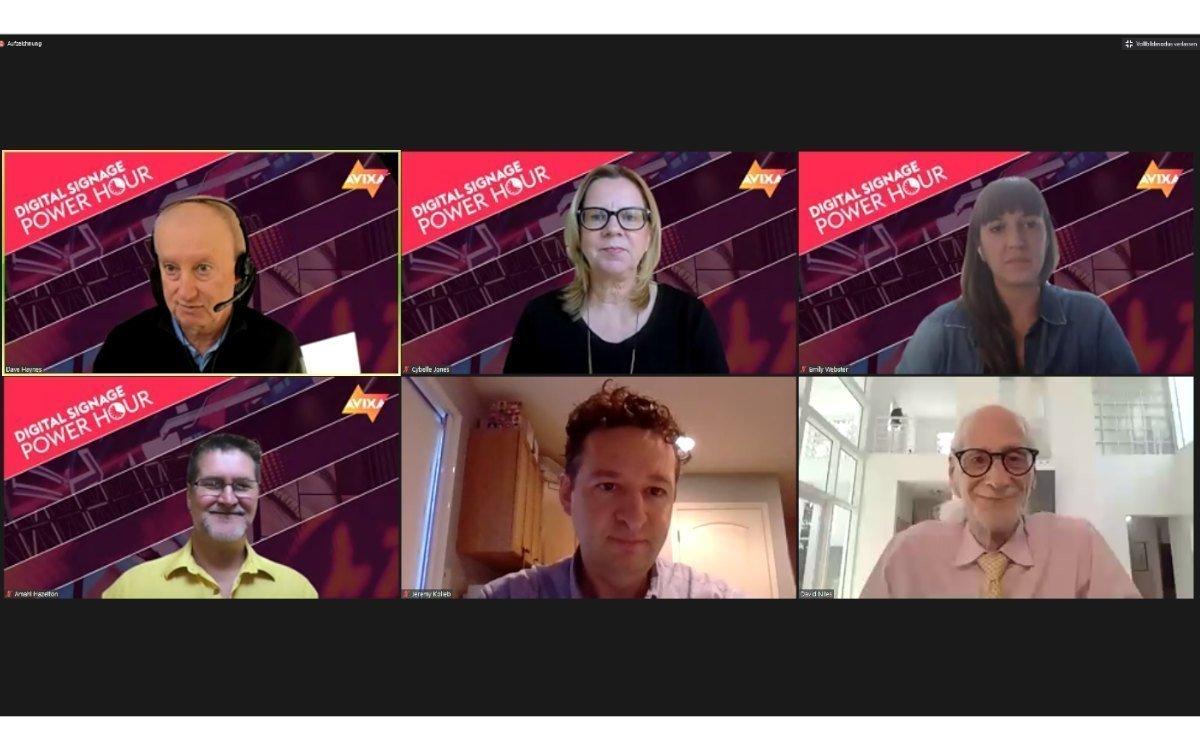 Das Experten-Panel der AVIXA Digital Signage Power Hour im November (Foto: Screenshot)