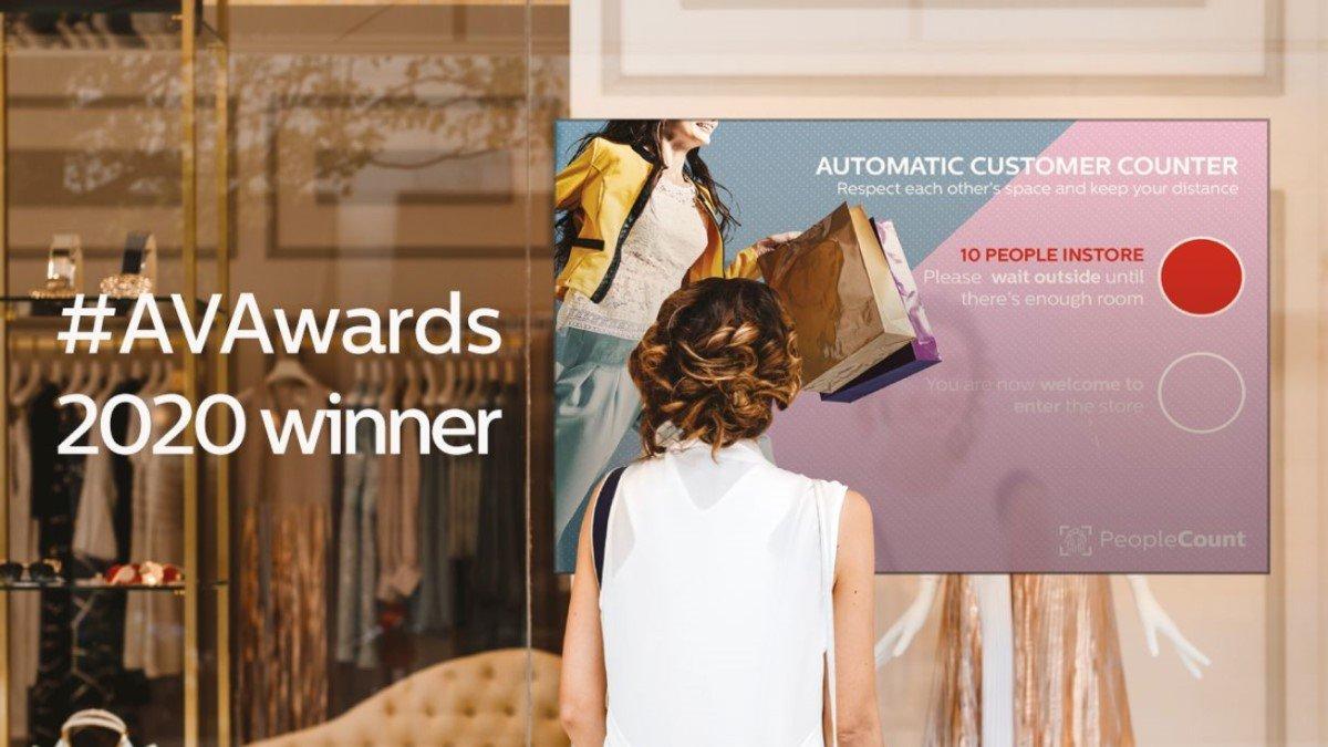 Gewinner des AV Awards 2020 für die beste Digital Signage Technologie ist Philips PDS für sein People Counting (Foto: Philips PDS)