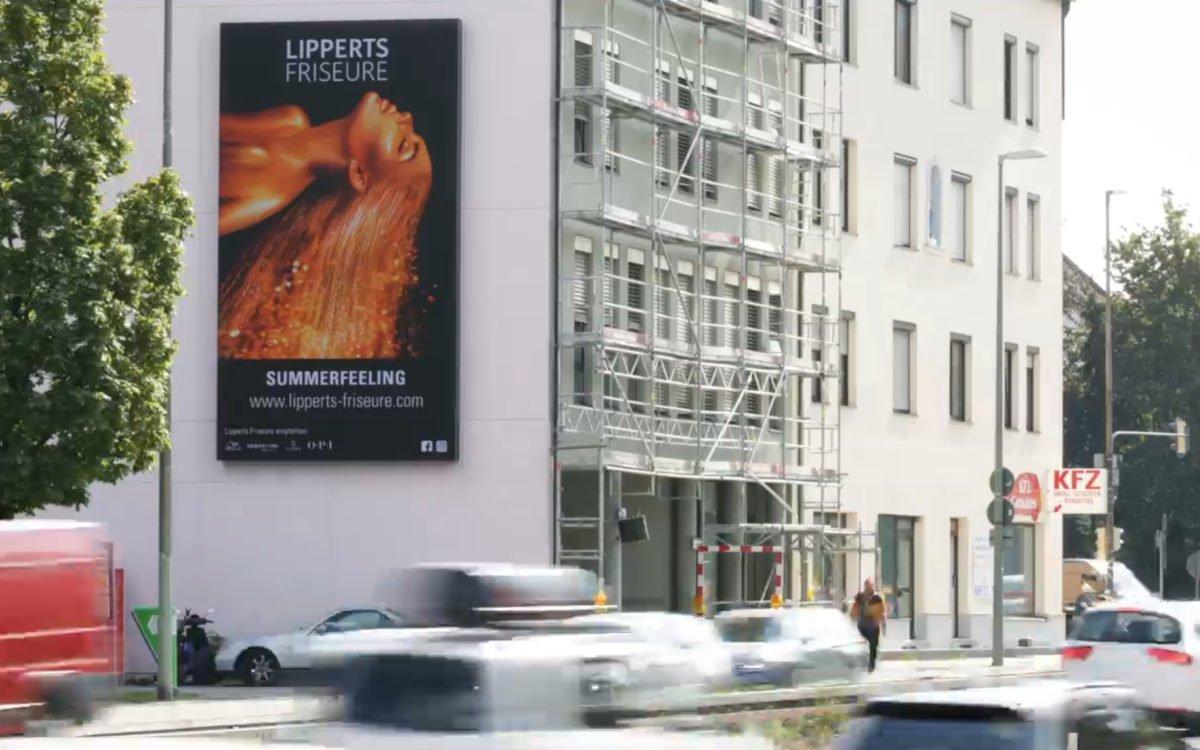 Der neue 28qm große Mega Vision von Ströer am Innsbrucker Ring in München (Foto: Screenshot)