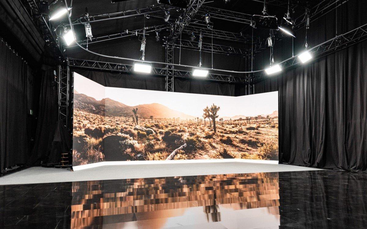 Habegger Studio für virtuelle Events am Firmensitz in Regensdorf in der Schweiz (Foto: Habegger)