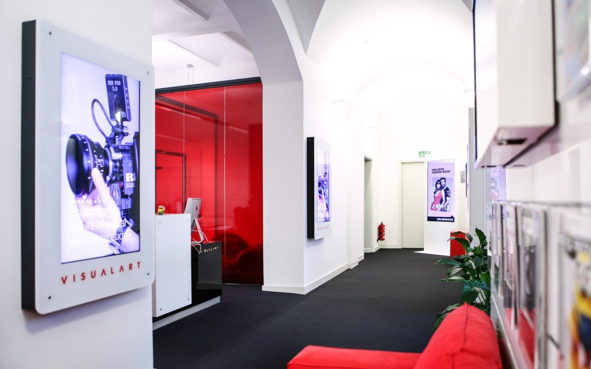 Büro des schwedischen Digital Signage-Content Studios Visual Art in Hamburg (Foto: Visual Art)